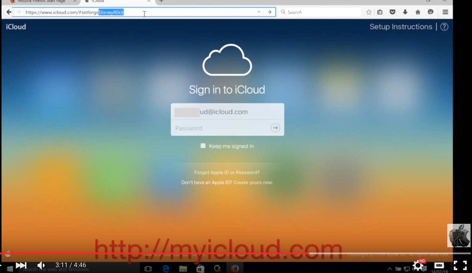how find icloud password apple id