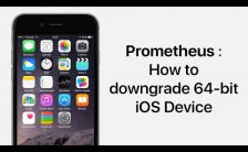 Downgrade 64bit iOS devices using prometheus