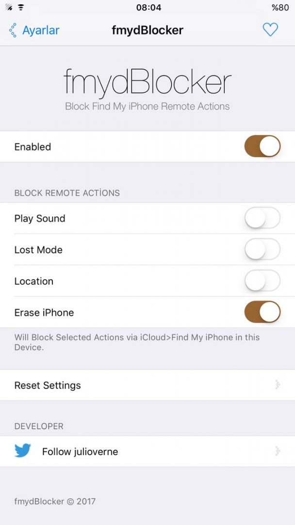 fmydBlocker will block icloud remote actions