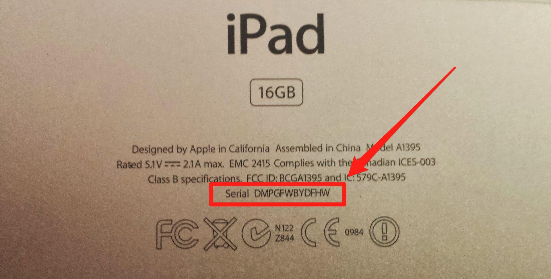 Check Ipad icloud status with Serial