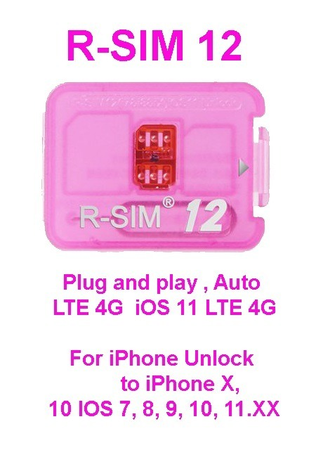 R-sim 12 New ICCID update - Iphone unlock sim card carrier